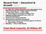 recent past decontrol growth 1994 99