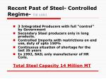 recent past of steel controlled regime till 1991