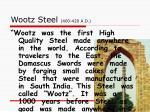 wootz steel 400 420 a d