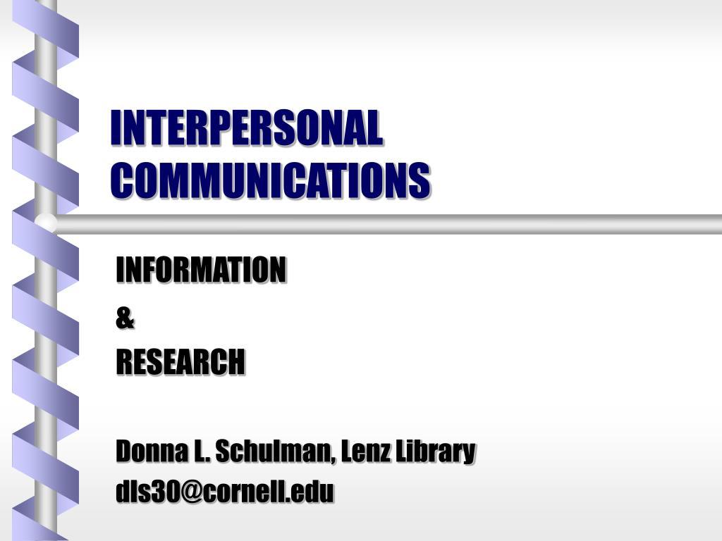 interpersonal communications l.