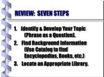 review seven steps