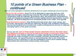 10 points of a green business plan continued18