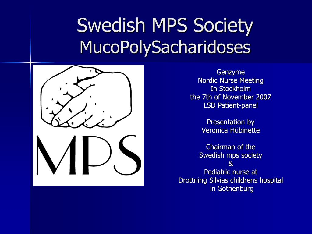 swedish mps society mucopolysacharidoses l.