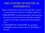 the nature of mystical experience