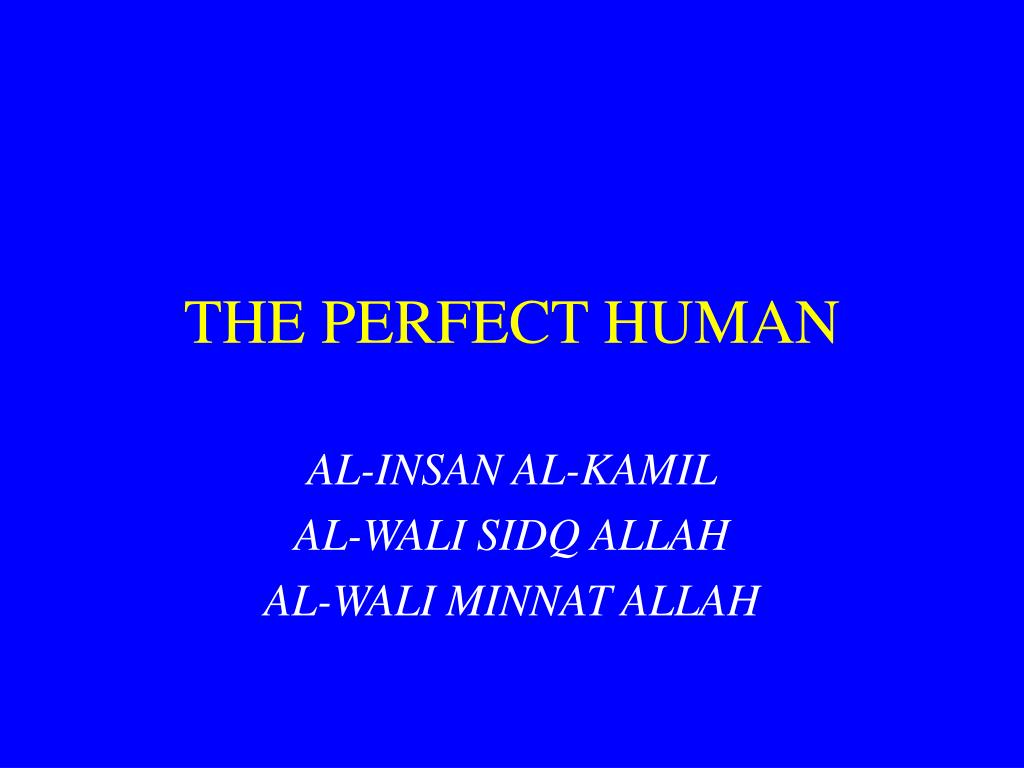the perfect human l.