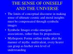 the sense of oneself and the universe