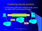 combining security functions16