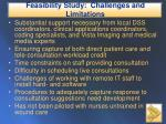feasibility study challenges and limitations