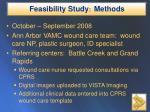 feasibility study methods