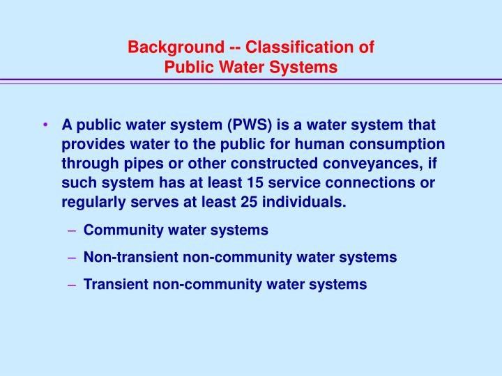 Background -- Classification of