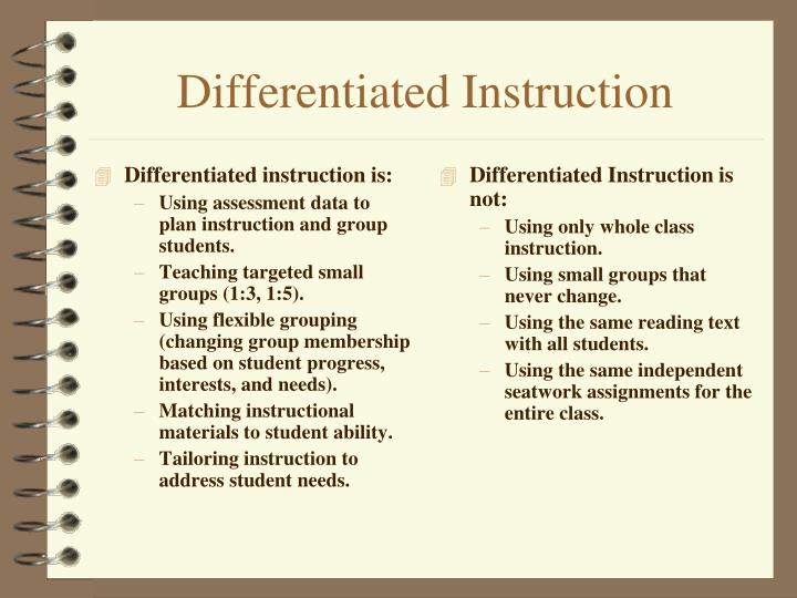 Differentiated instruction is: