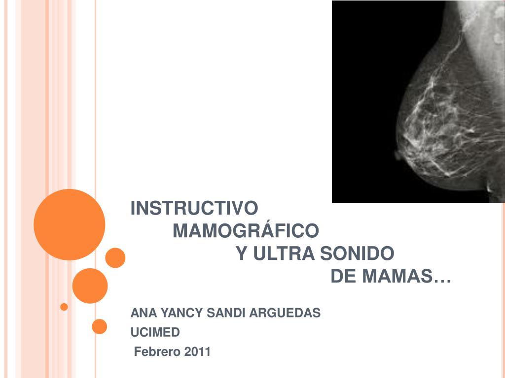 instructivo mamogr fico y ultra sonido de mamas l.