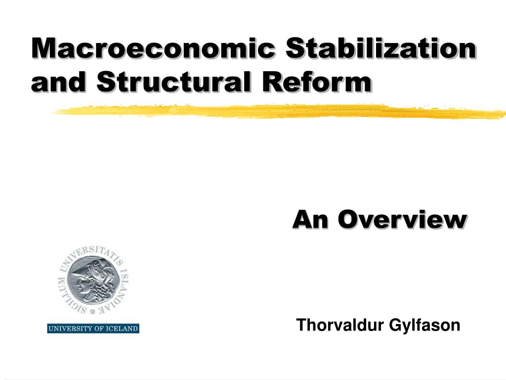 macroeconomic stabilization and structural reform l.