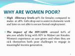 why are women poor13