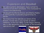 expansion and baseball