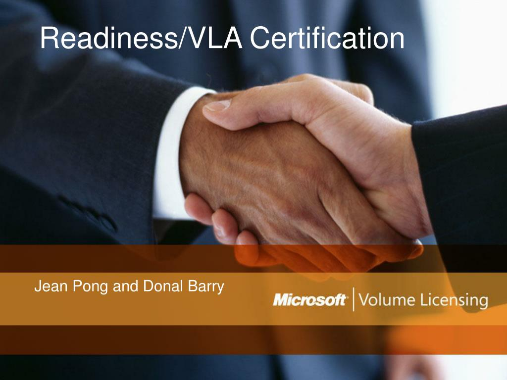 readiness vla certification l.