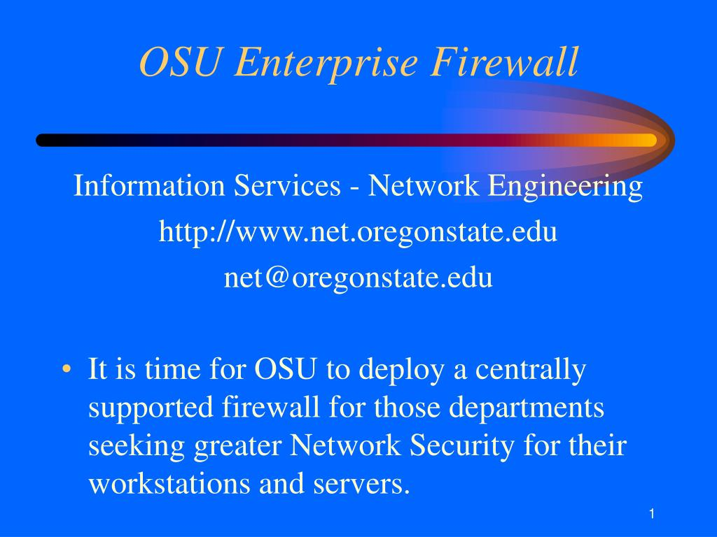 osu enterprise firewall l.