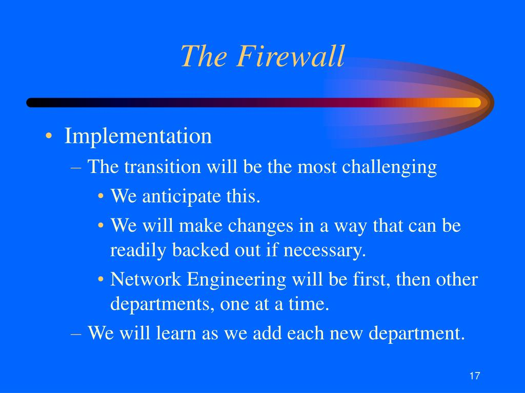 The Firewall