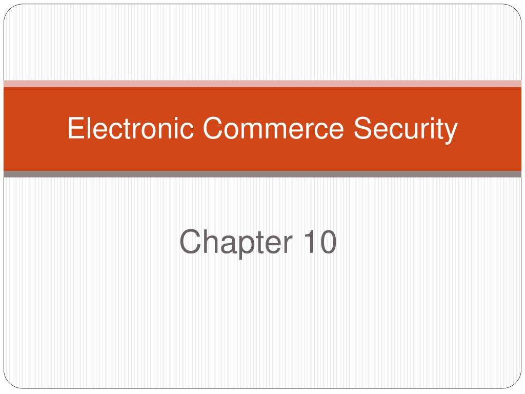 electronic commerce security l.