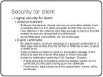 security for client11