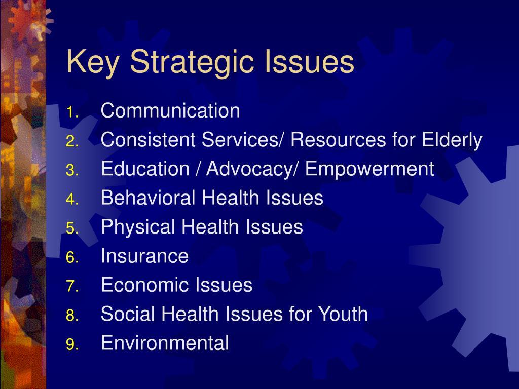Key Strategic Issues