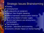 strategic issues brainstorming