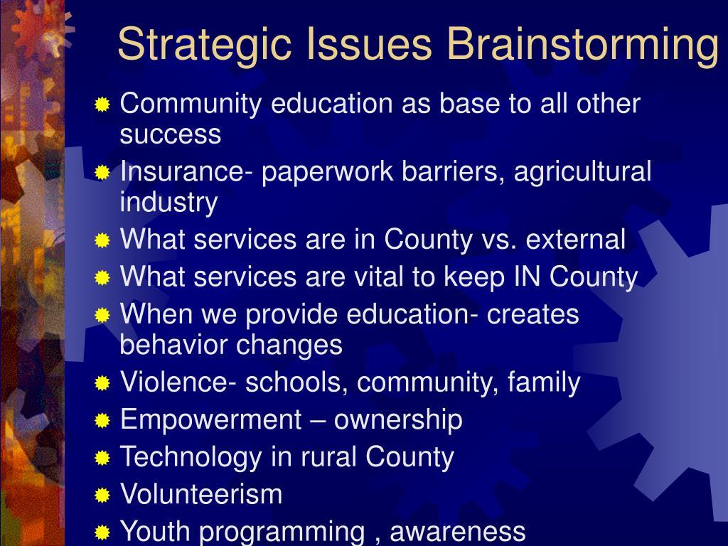 Strategic Issues Brainstorming