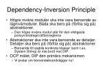 dependency inversion principle
