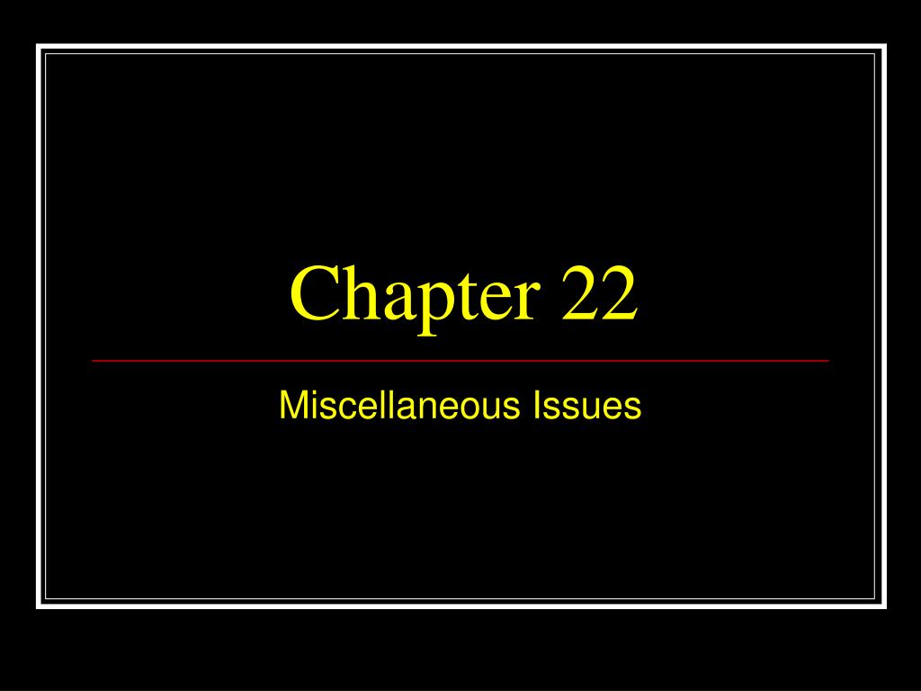 chapter 22 l.