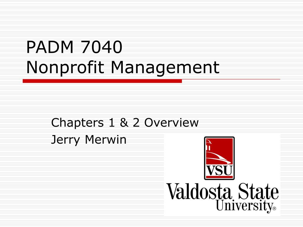 padm 7040 nonprofit management l.