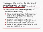 strategic marketing for nonprofit organizations chapter 1 continued11