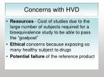 concerns with hvd