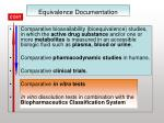 equivalence documentation