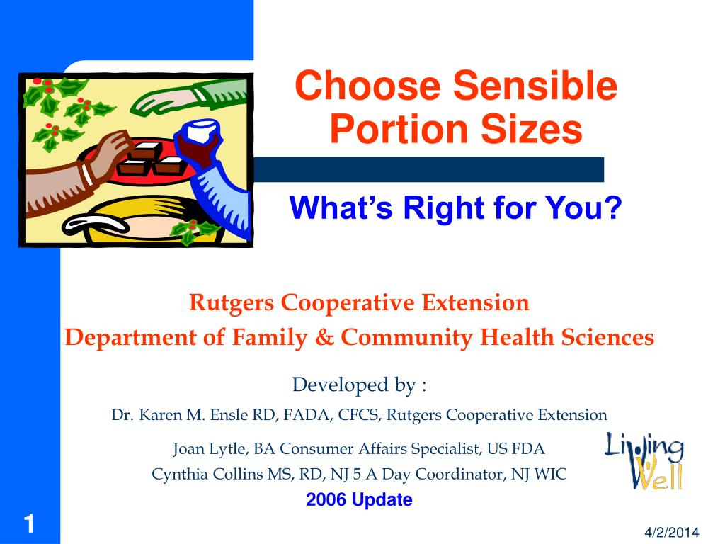 choose sensible portion sizes what s right for you l.