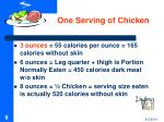 one serving of chicken