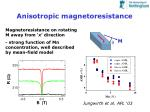 anisotropic magnetoresistance