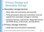 primary storage and secondary storage