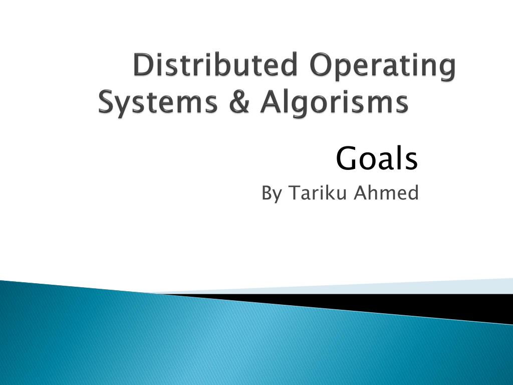 distributed operating systems algorisms l.