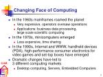 changing face of computing