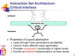 instruction set architecture critical interface