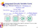 integrated circuits variable costs