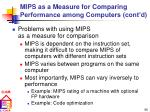 mips as a measure for comparing performance among computers cont d