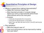 quantitative principles of design