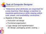task of computer designer