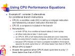 using cpu performance equations