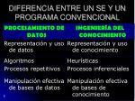 diferencia entre un se y un programa convencional