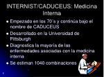 internist caduceus medicina interna