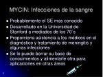 mycin infecciones de la sangre