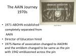 the aain journey 1970s