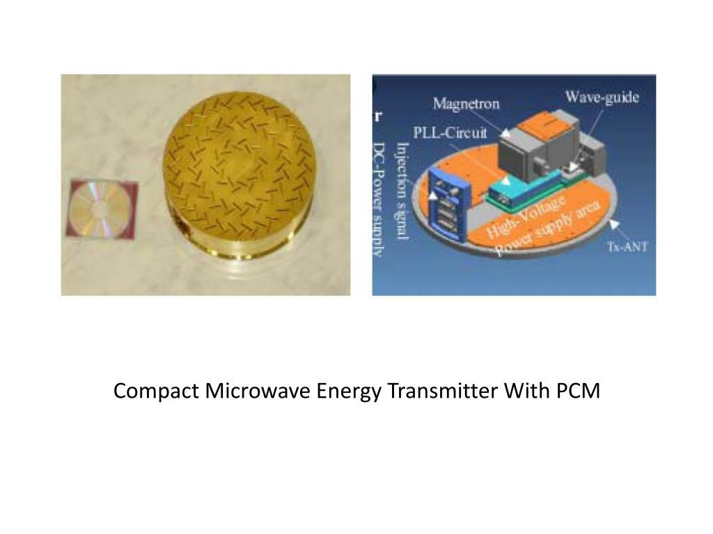 Compact Microwave Energy Transmitter With PCM